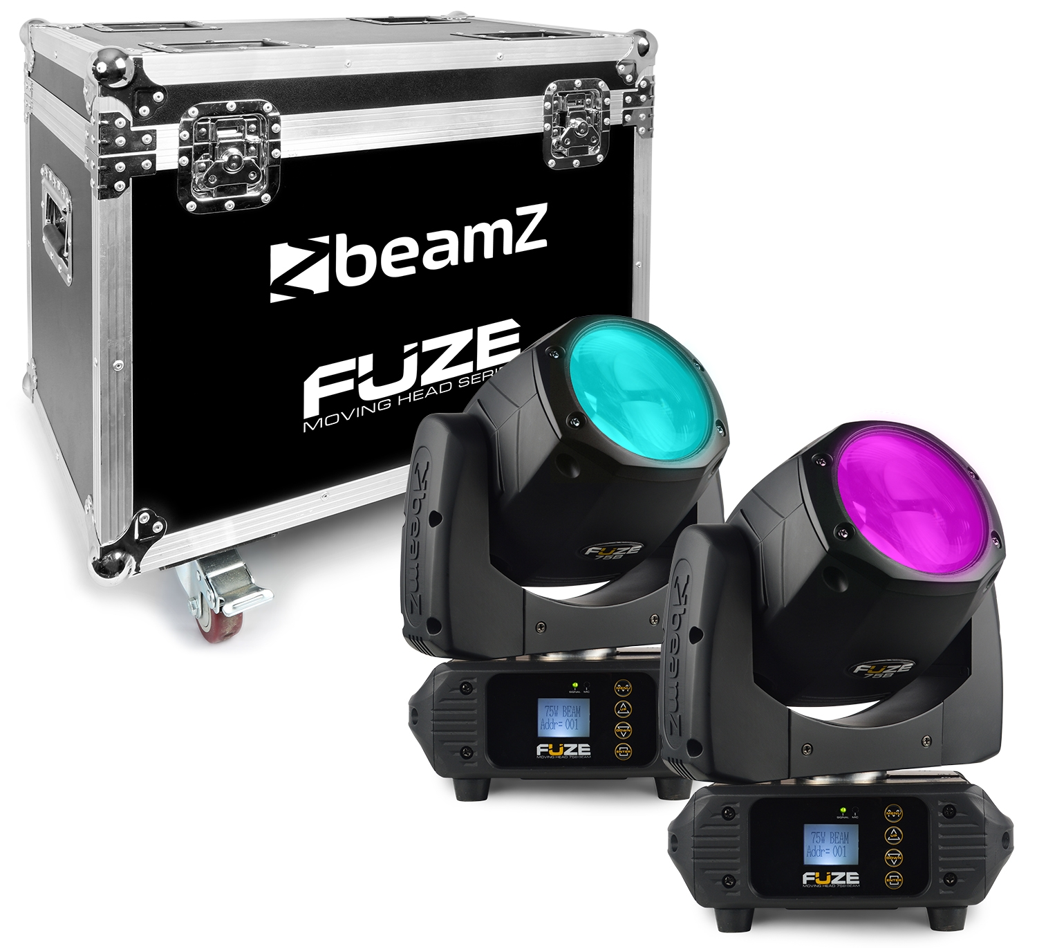 BeamZ Fuze 75B Beam 75W LED Moving Head Sada 2ks s přepravním casem