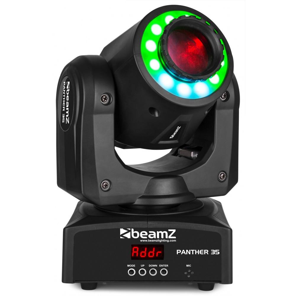 BeamZ otočná hlavice Panther 35, RGB LED prstenec, DMX
