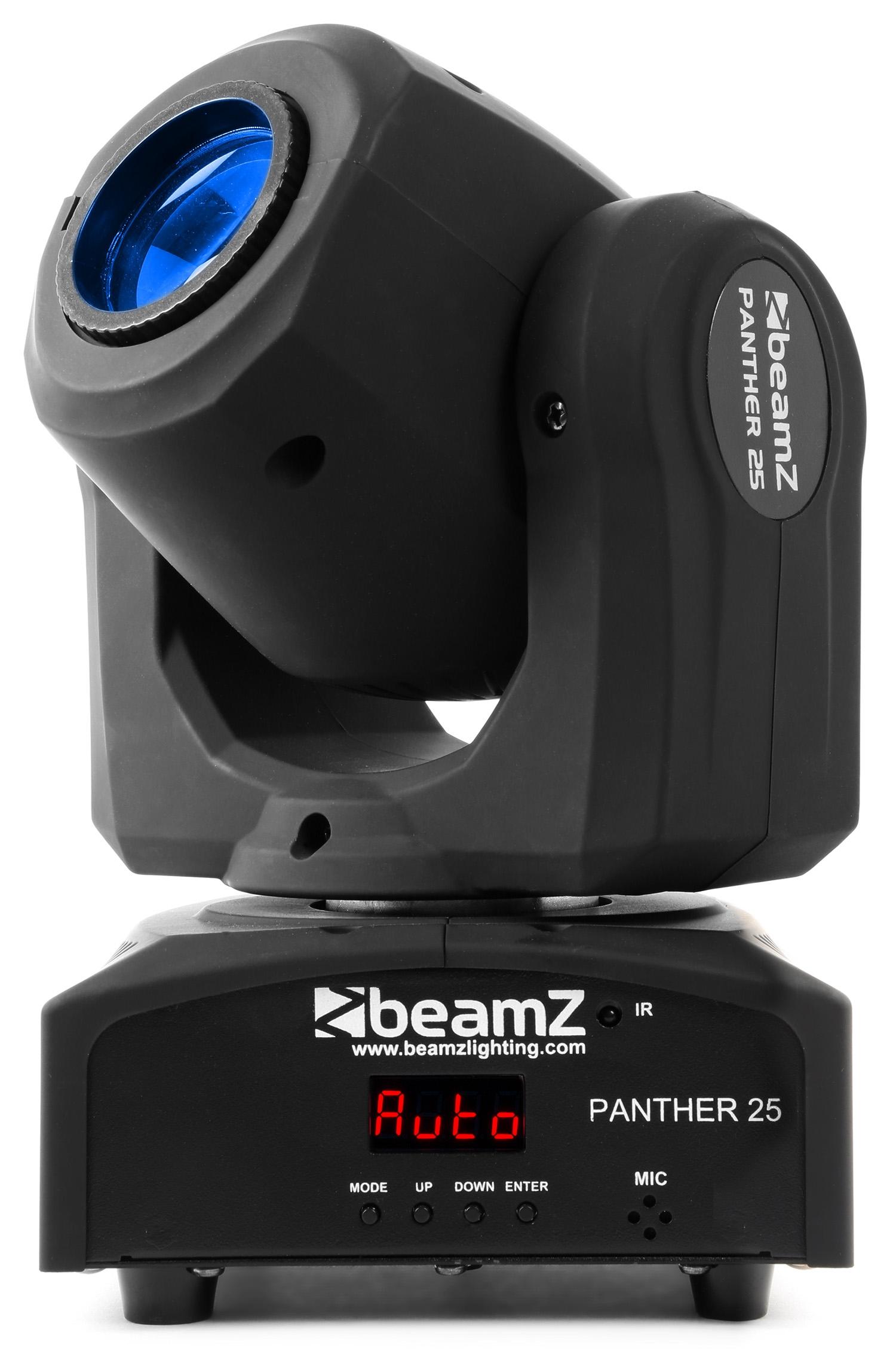 Beamz LED otočná hlavice Panther 25, 1x12W CREE LED, IR, DMX