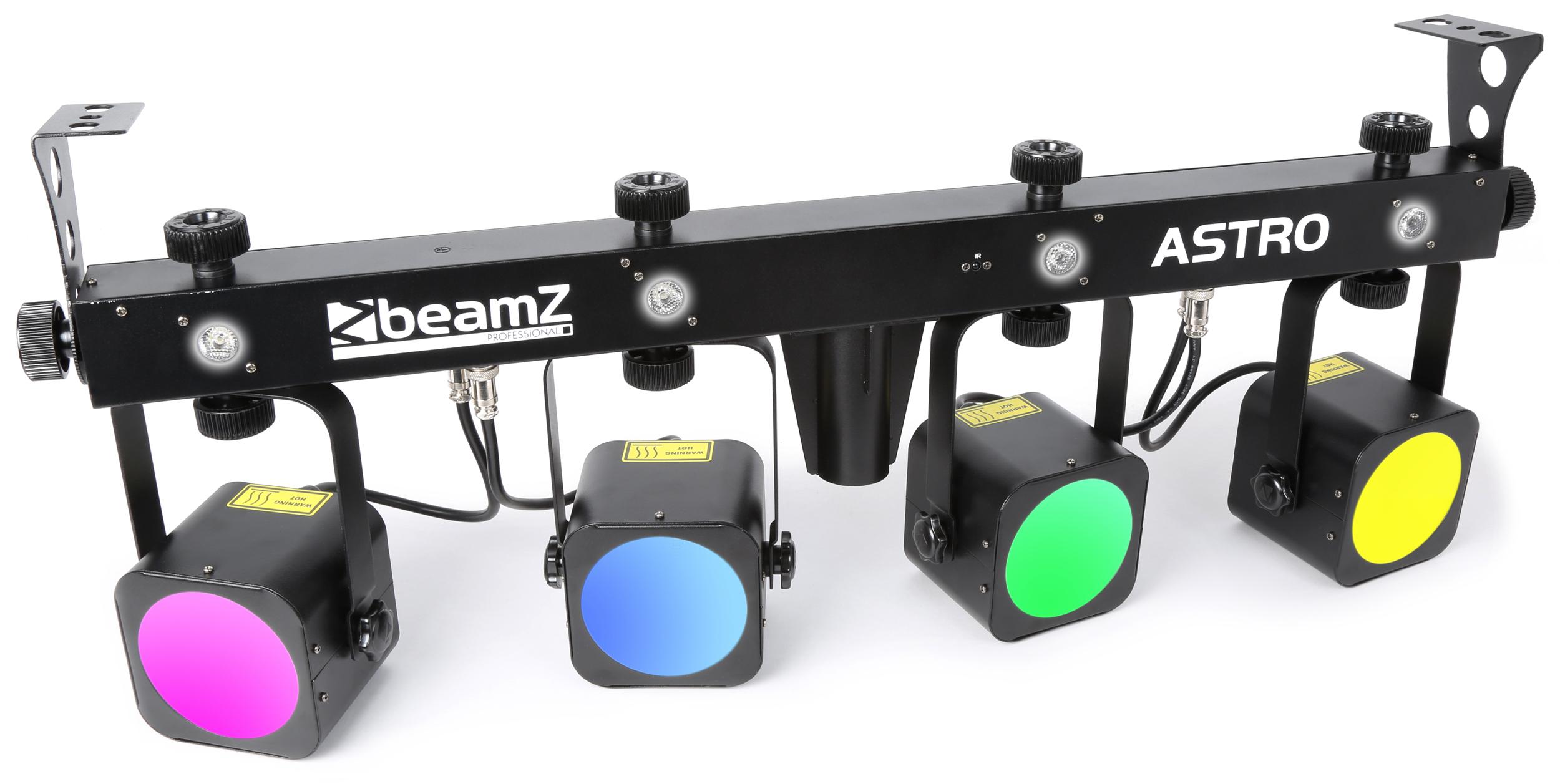 BeamZ Professional Astro PAR Bar, 4x 20W COB + 4x 1W bílá LED