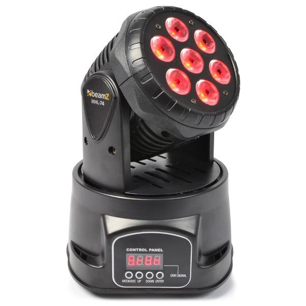 BeamZ LED otočná hlavice, 7x10W RGBW LED, DMX, černá