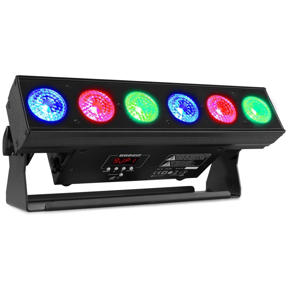 BeamZ BBB612 LED světelná lišta na baterie, 6x 12W HCL