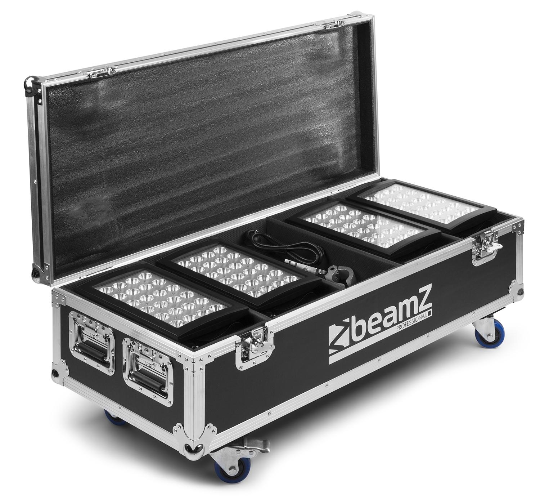 BeamZ Professional Flightcase FL4 pro 4ks Star-Color 240/360 Wash