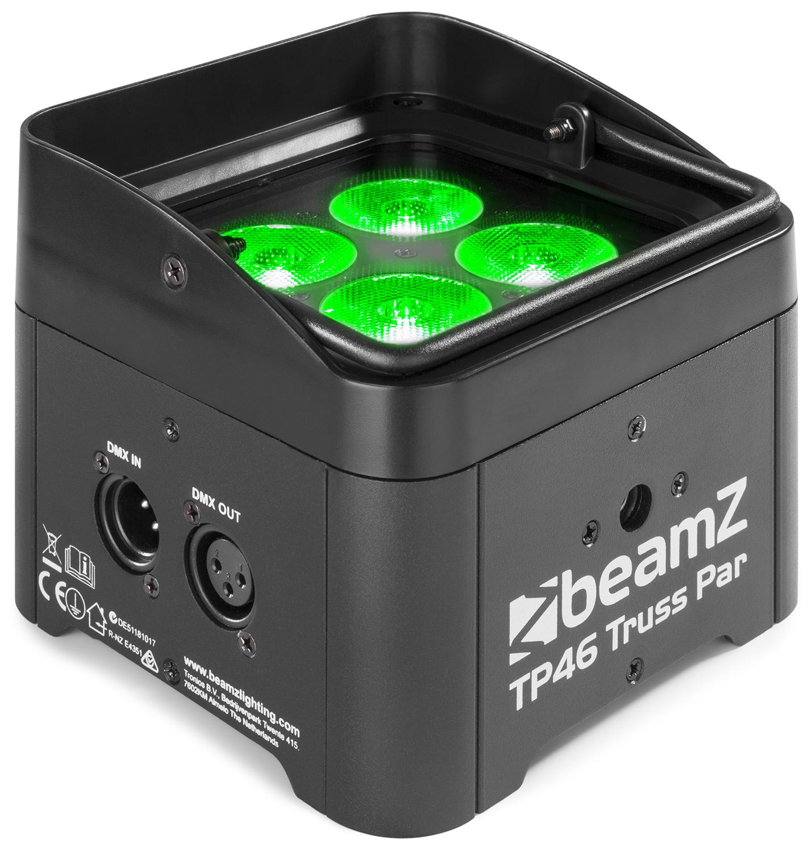 BeamZ TP46 Truss PAR reflektor, 4x4W QCL RGB-UV, DMX