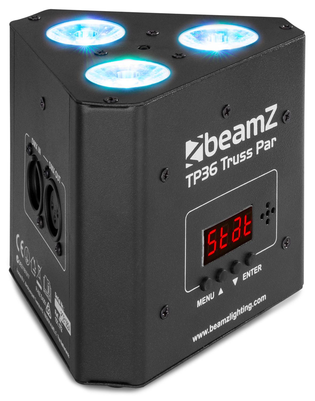 BeamZ TP36 Truss PAR reflektor, 3x4W QCL RGB-UV, DMX