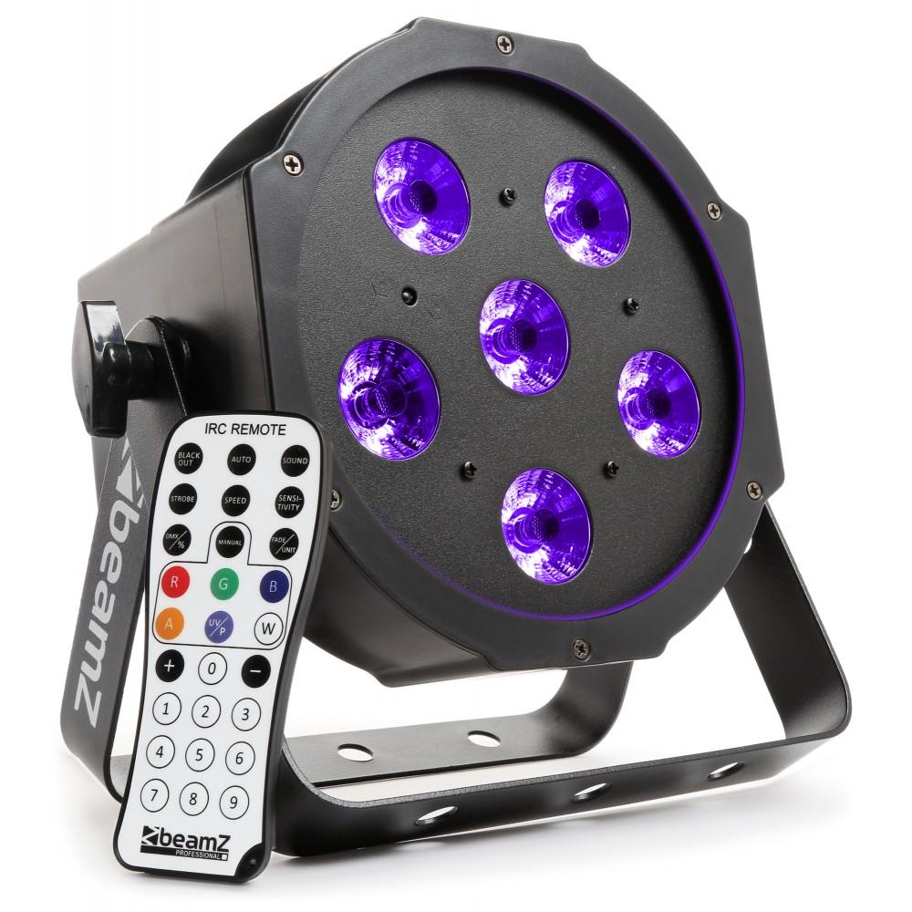 BeamZ BFP130 UV FlatPAR reflektor s IR, 6x 6W UV LED, DMX