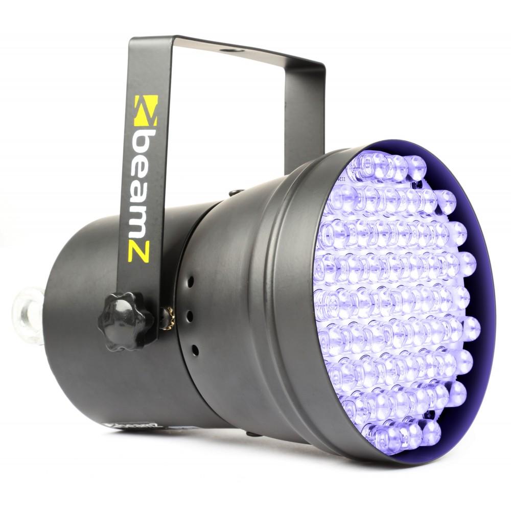 BeamZ LED PAR-36 reflektor 55x 10mm UV, DMX