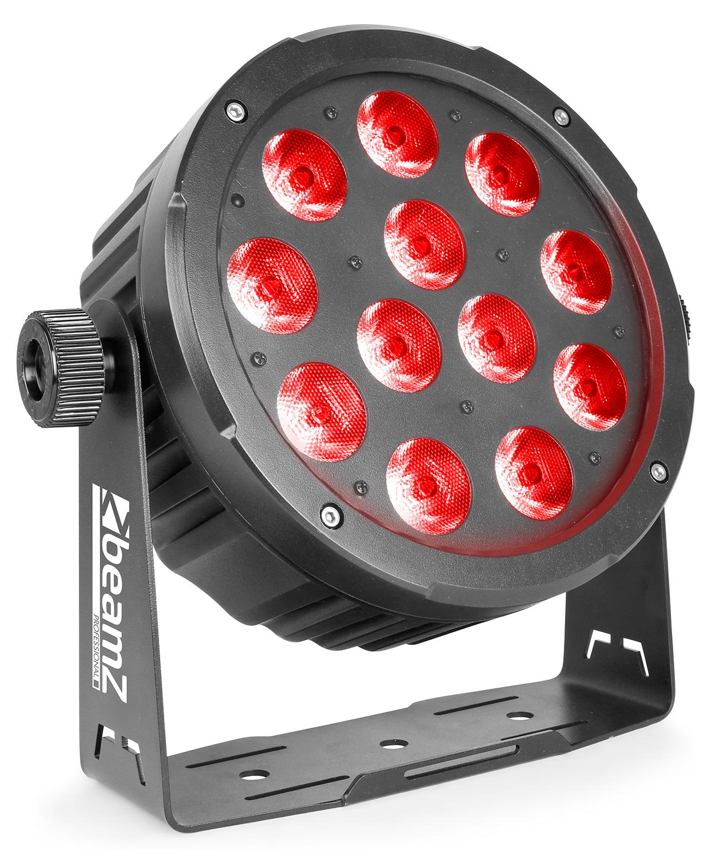 BeamZ Professional BAC504 Aluminum LED PAR 12x 12W QCL RGBW, DMX, černý