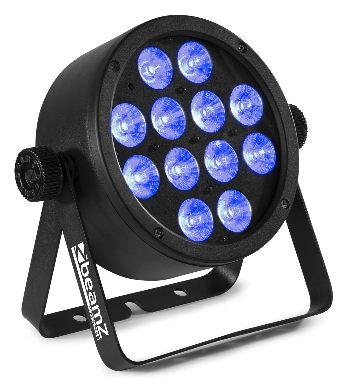 BeamZ Professional BAC304 Aluminum LED PAR 12x8W QCL RGBW, DMX, černý