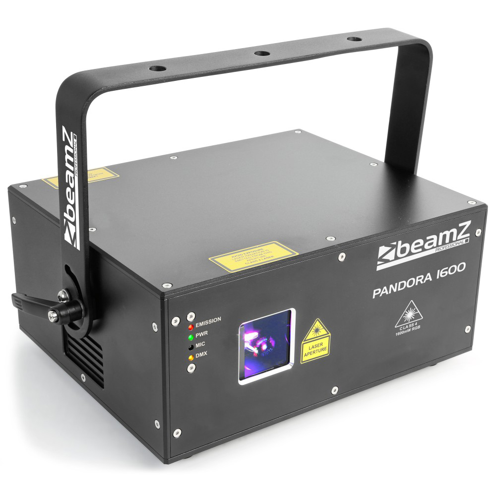 BeamZ Laser Pandora 1600 TTL, 1600 mW RGB, DMX, ILDA