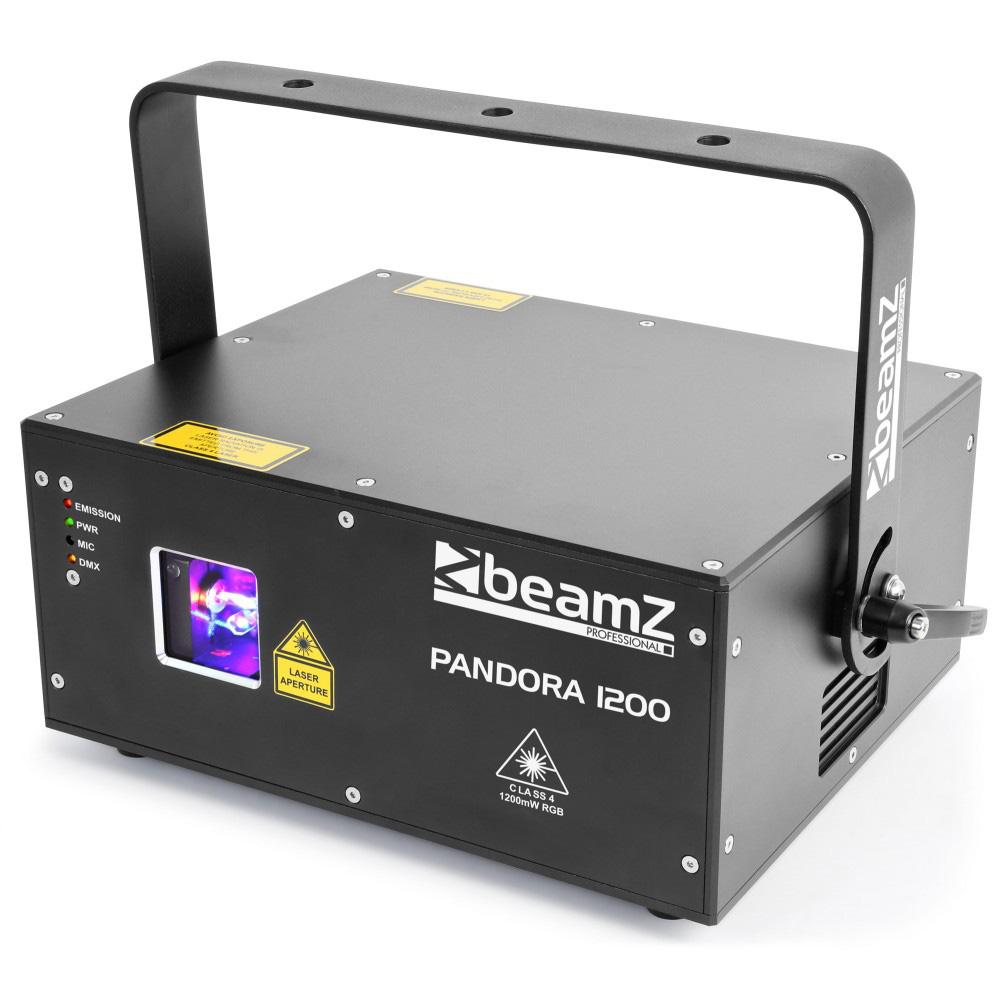 BeamZ Laser Pandora 1200 TTL, 1200 mW RGB, DMX, ILDA