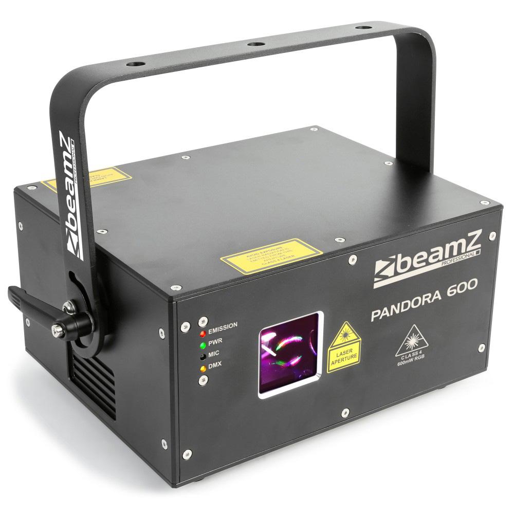 BeamZ Laser Pandora 600 TTL, 600 mW RGB, DMX, ILDA