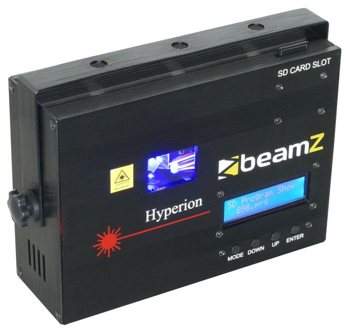 BeamZ Laser Hyperion 450mW modrý, DMX SD, animační