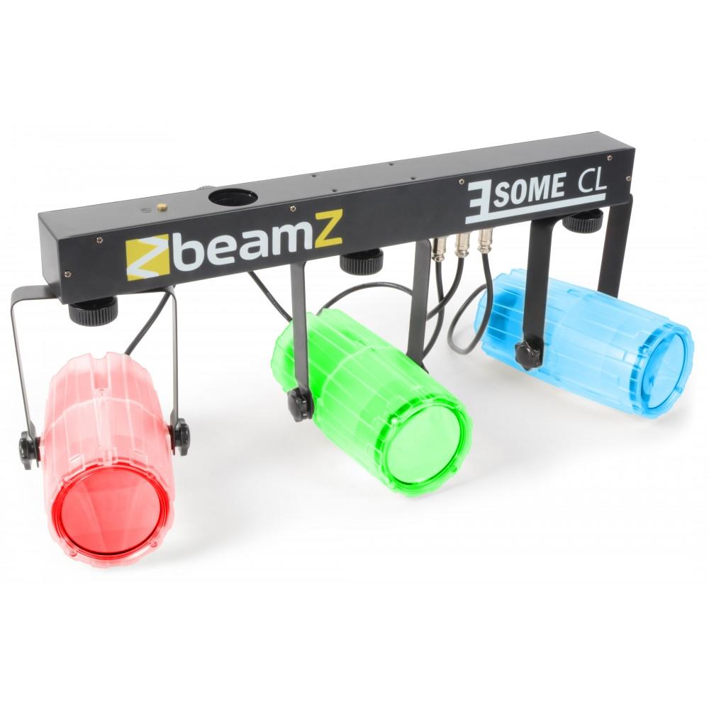 BeamZ LED KLS 3, 3x 57 RGBW LED, čirá, světelná rampa