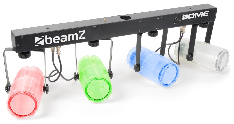 BeamZ LED KLS 4, 4x 57 RGBW LED, čirá, světelná rampa