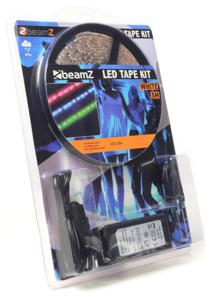 BeamZ LED páska 5m, bílá, 60 LED/m, IP65