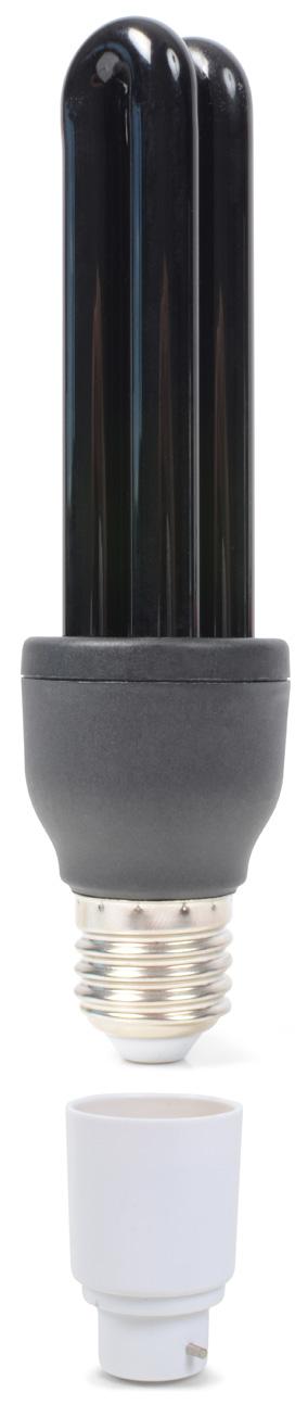 BeamZ UV spořící žárovka 25W E27 + bajonet adaptér