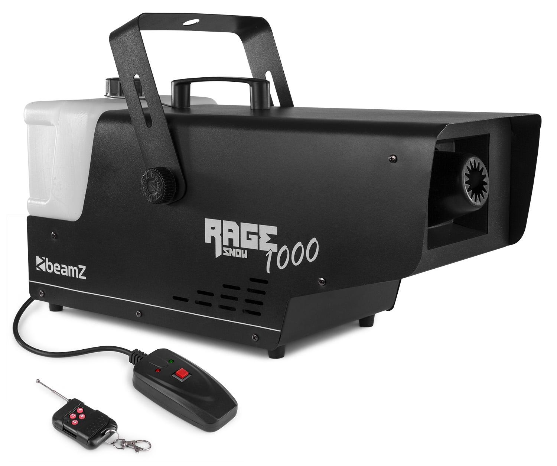 BeamZ Rage 1000 Snow, výrobník sněhu 1000W, bezdrátové ovládání