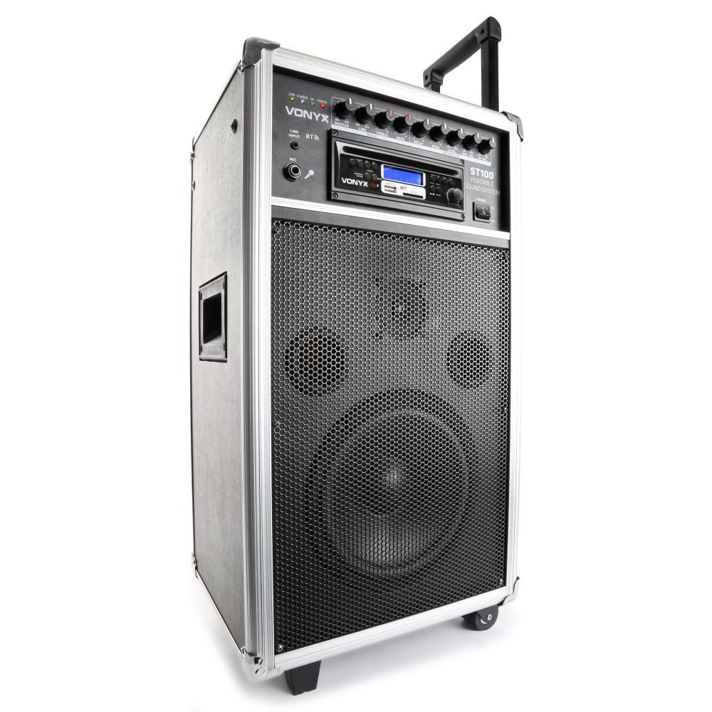 "Vonyx ST100 MK2, mobilní 8"" zvukový systém CD/MP3/BT/UHF"