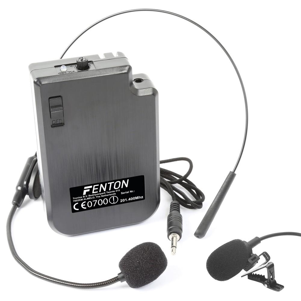 Fenton VHF náhlavní a klopová mikrofonní sada, 201.400 MHz