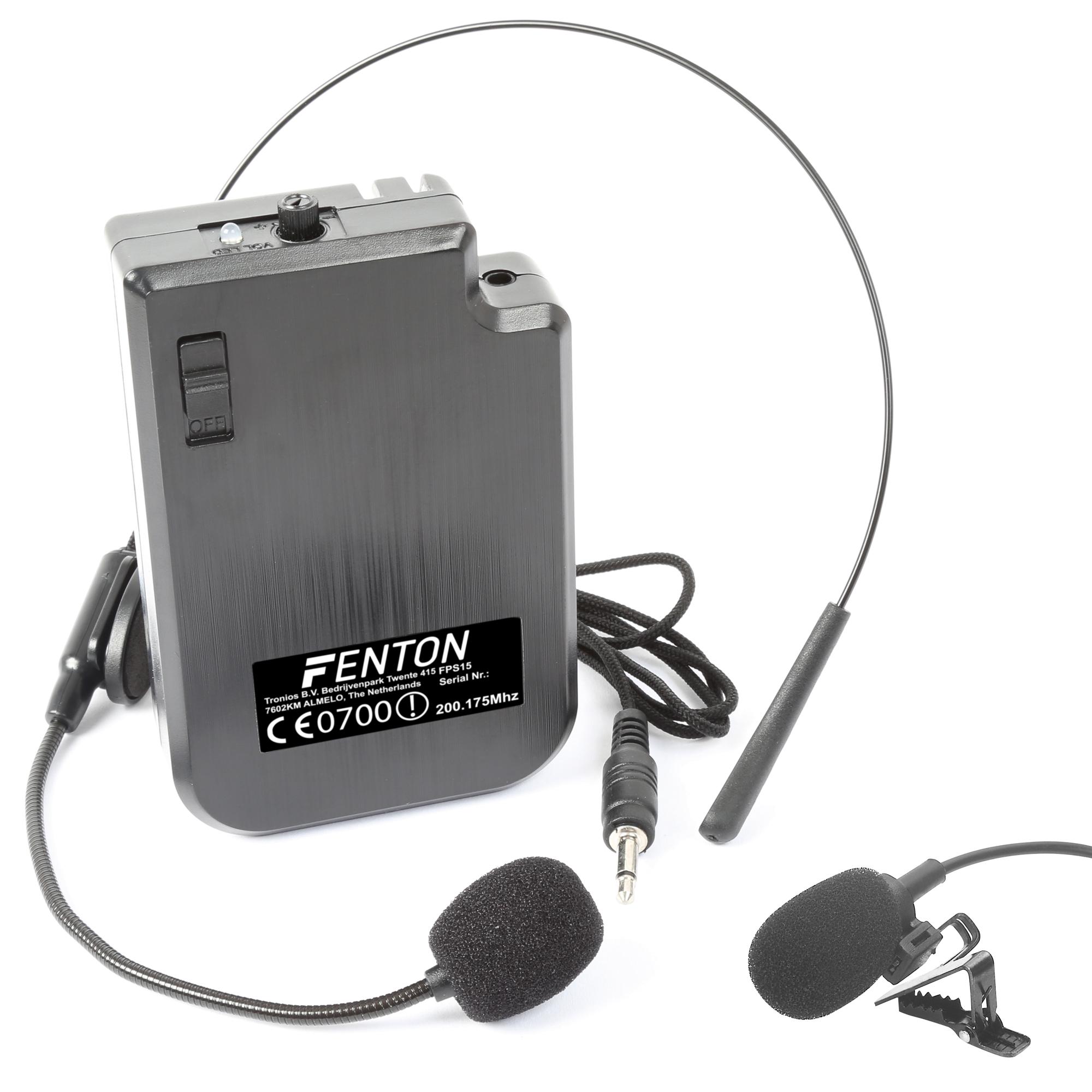 Fenton VHF náhlavní a klopová mikrofonní sada, 200.175 MHz