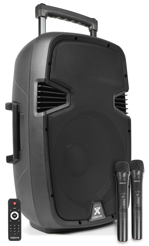 "Vonyx SPJ-PA912, mobilní 12"" zvukový systém MP3/BT/2x UHF"