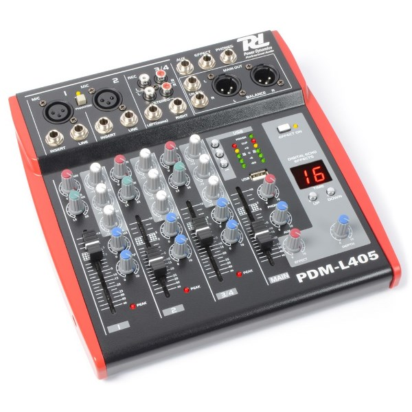 Power Dynamics PDM-L405, mixážní pult