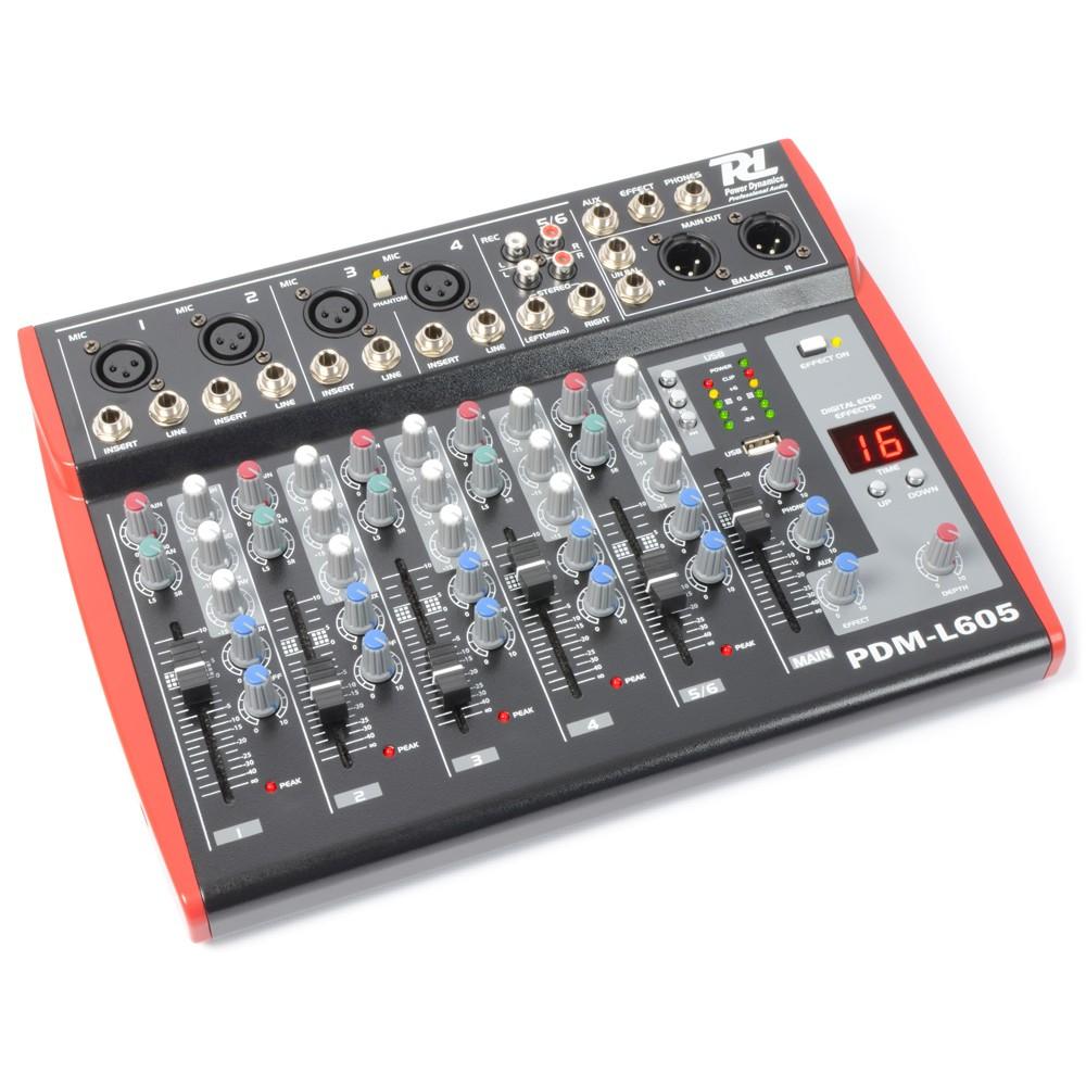 Power Dynamics PDM-L605, mixážní pult