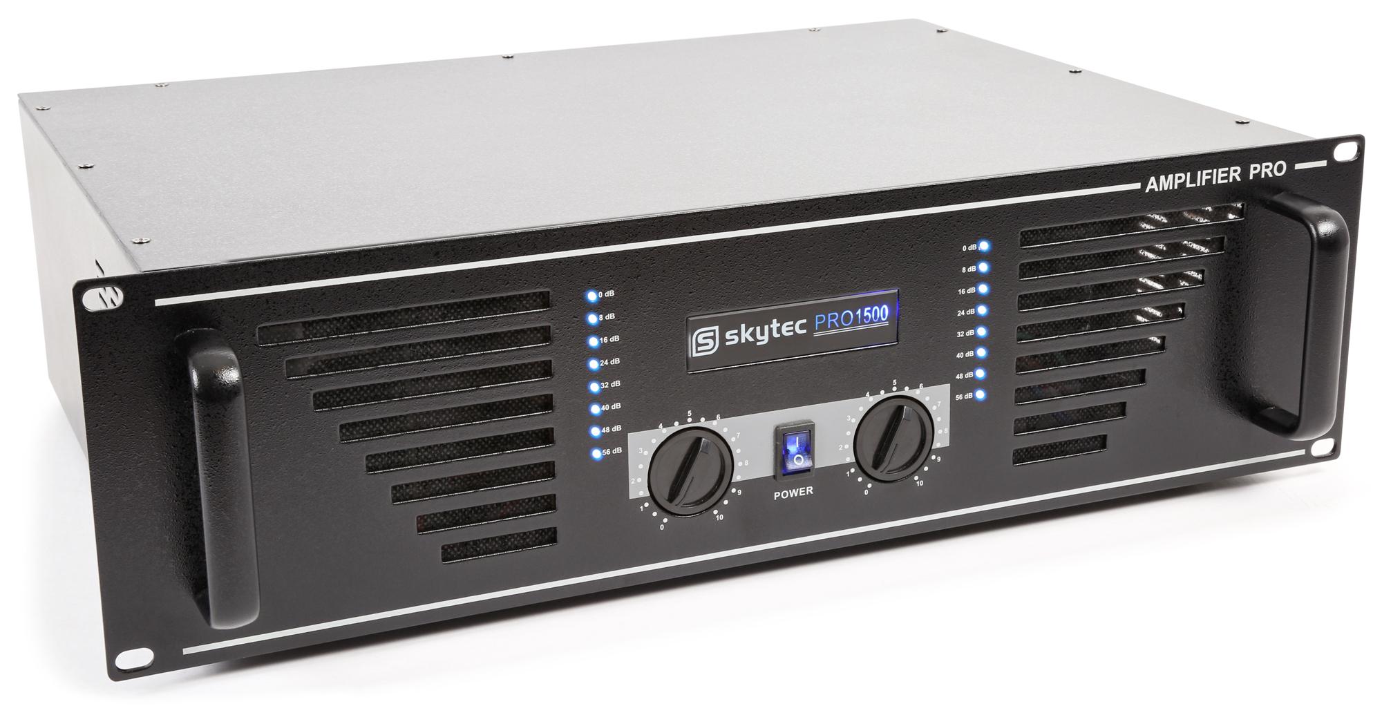 Skytec PRO-1500B PA zesilovač 2x750W