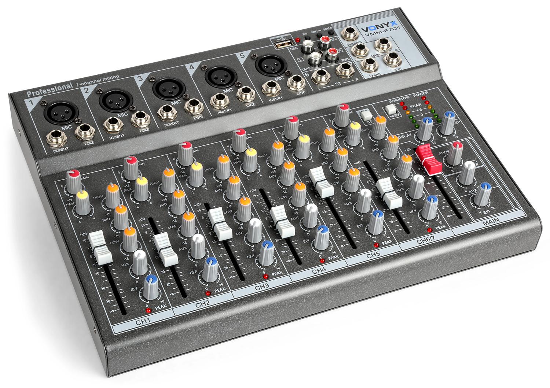 Vonyx VMM-F701 7-kanálový mix pult