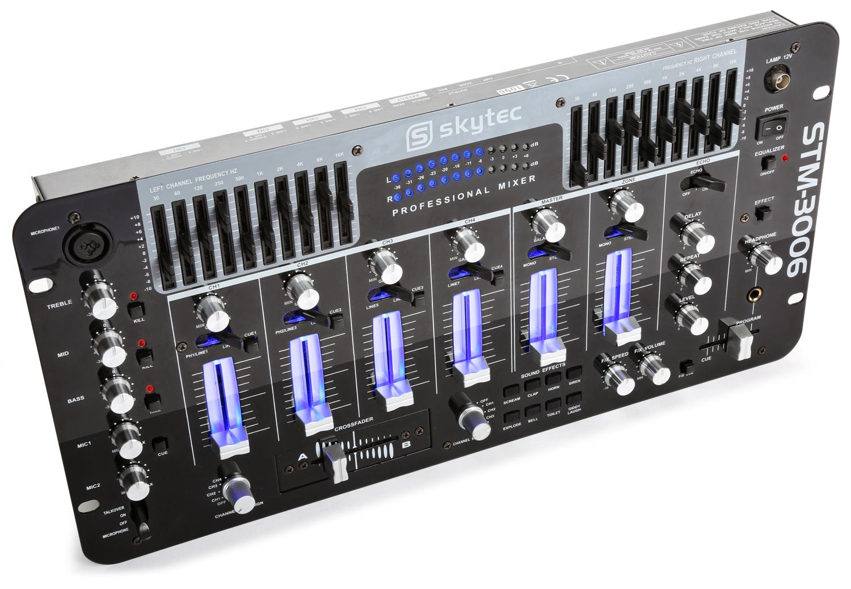 Skytec STM-3006, černý, 6-kanálový mixážní pult