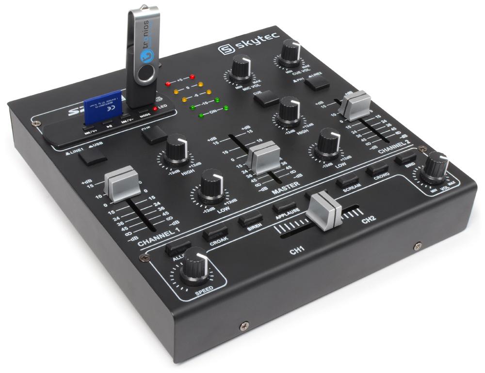 Skytec STM-2250, 2-kanálový mixpult s MP3
