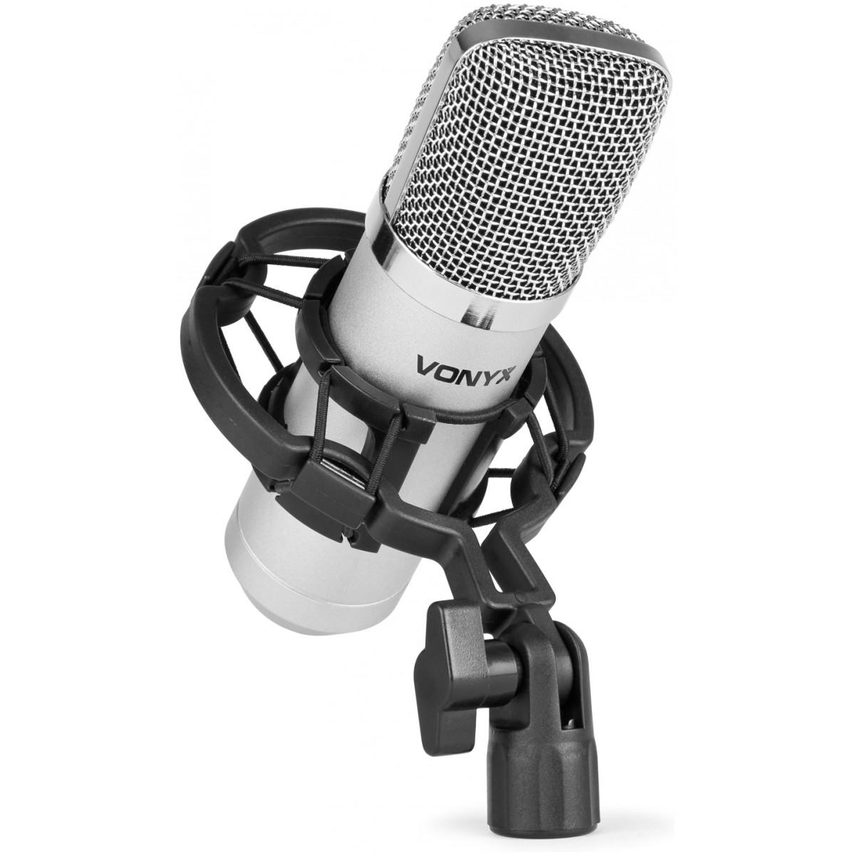Vonyx CM400 studiový kondenzátorový mikrofon stříbrný