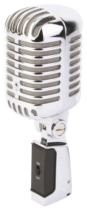 Power Dynamics PDS-M02 Microphone Retro Style Chrome