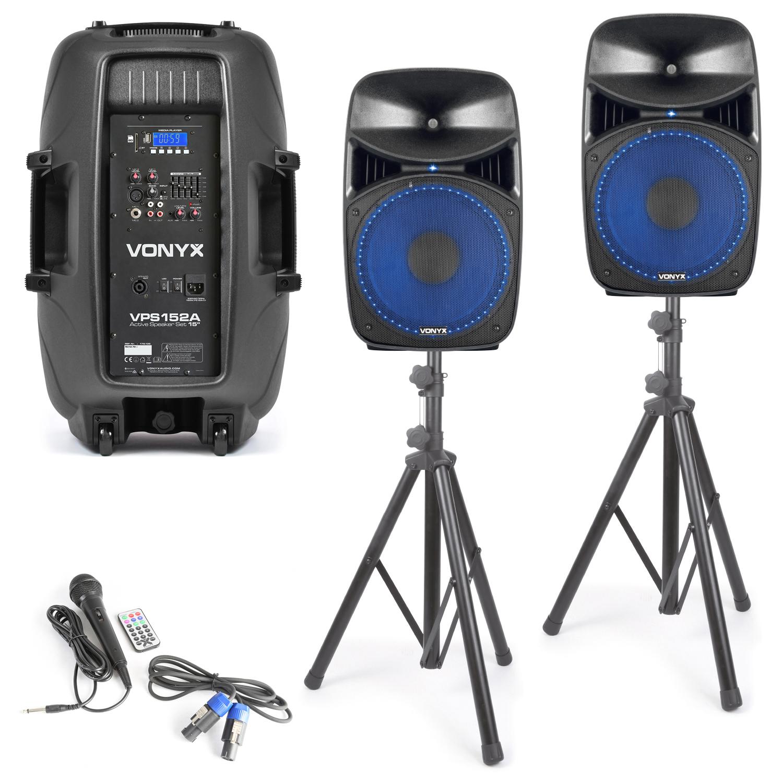 Vonyx VPS152A Plug & Play 1000W repro sada se stojany