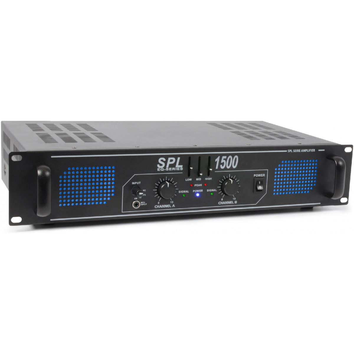 Skytec SPL 1500 Amplifier 2x 750W EQ