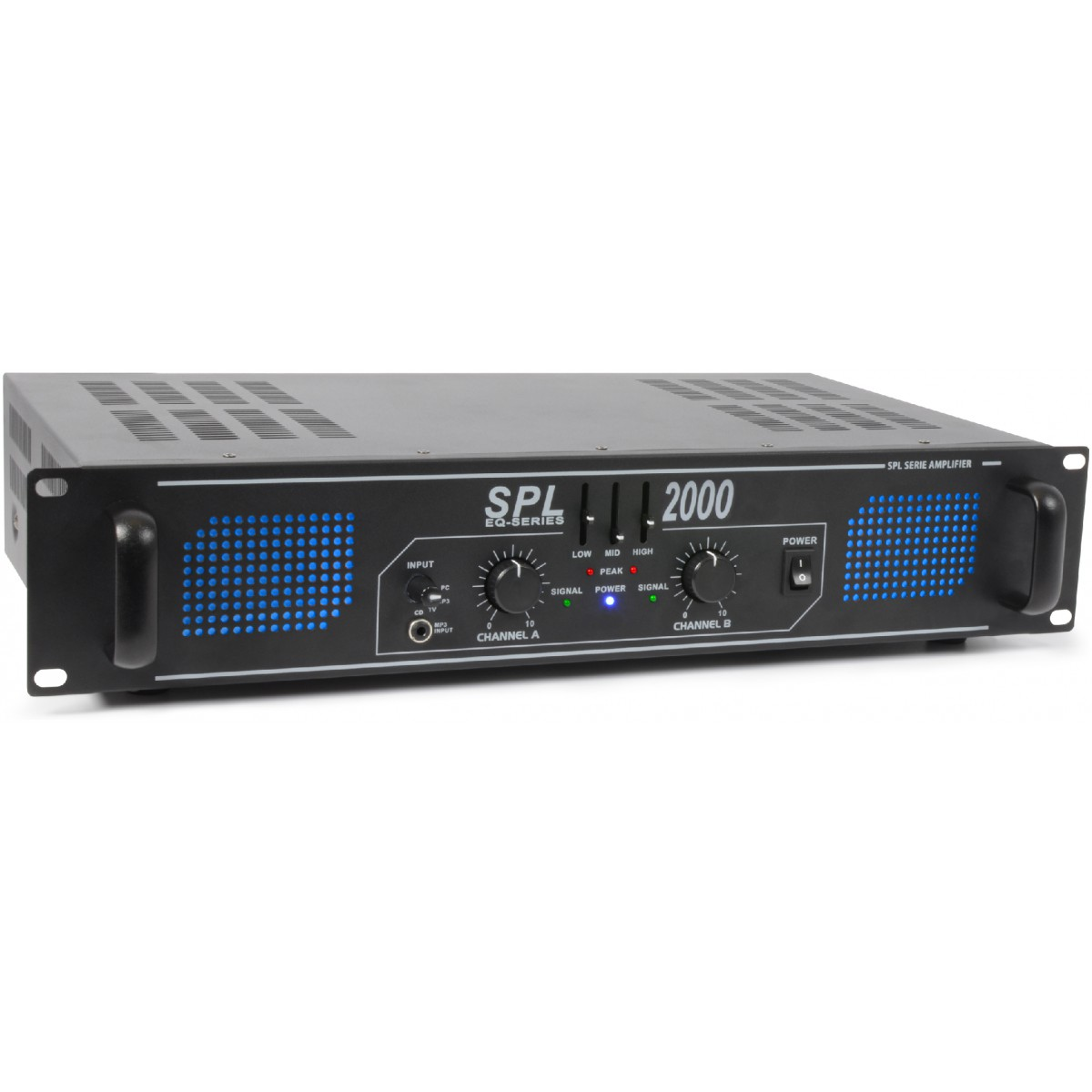 Skytec SPL 2000 Amplifier 2x 1000W EQ