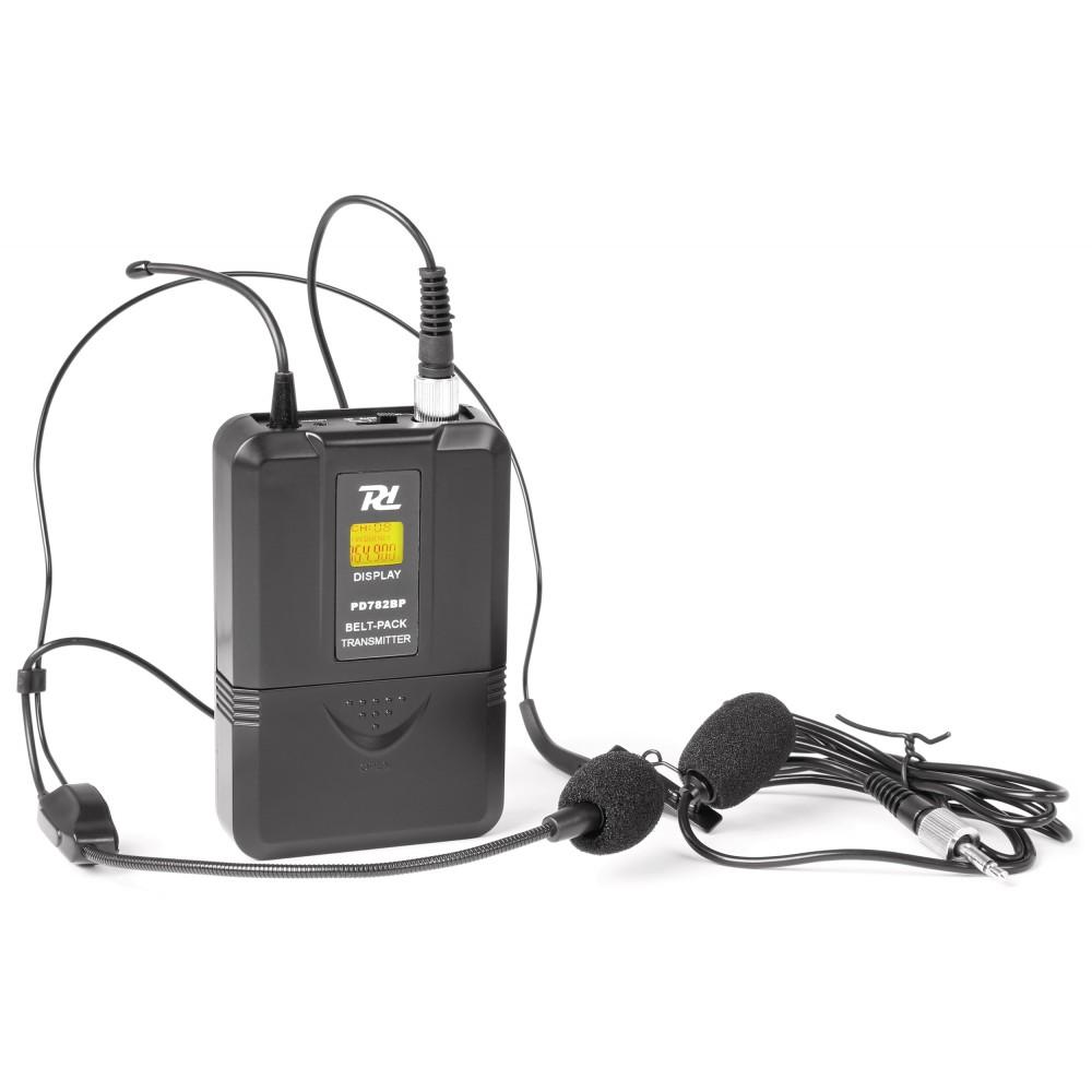 Power Dynamics PD782BP, bodypack s náhlavnm mikrofonem, UHF 863-865MHz