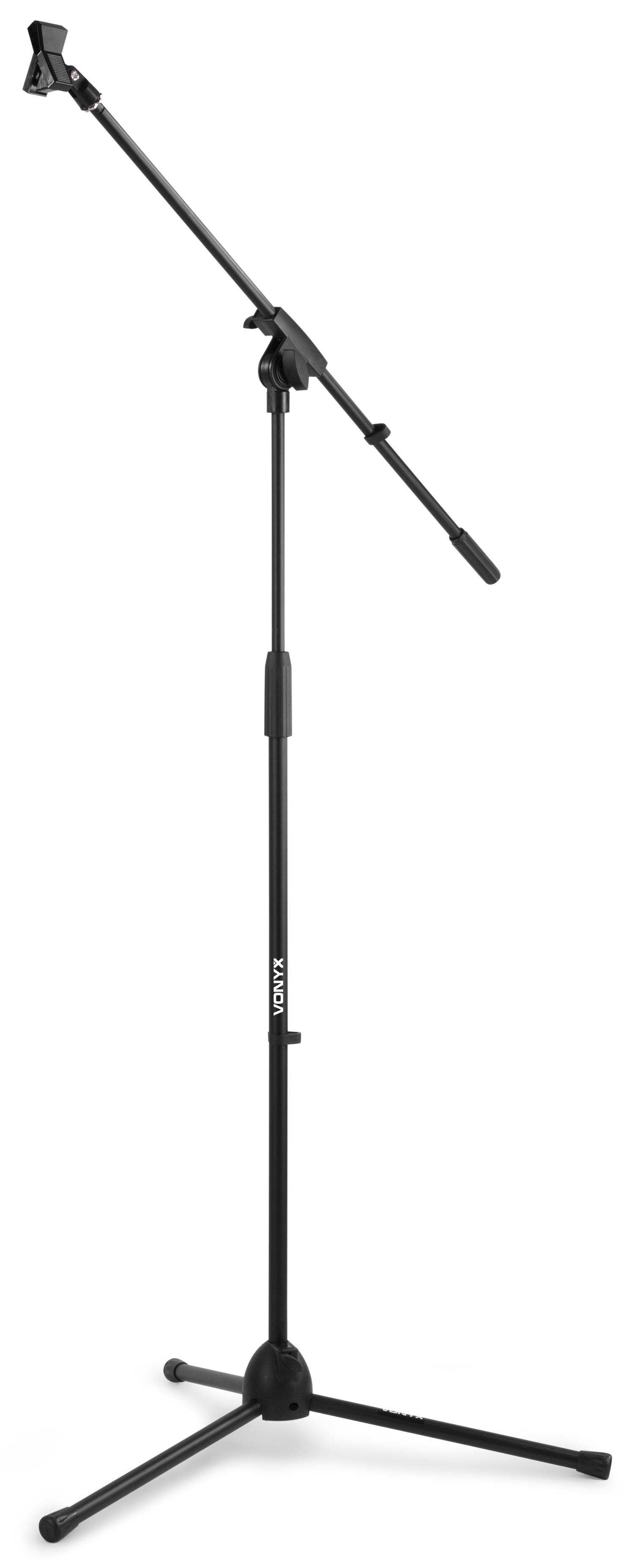 Mikrofonní stojan s ramenem, černý