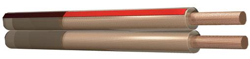 Kabel reproduktorový 2x0,75 čirý, cena / m
