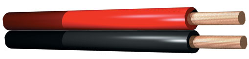Kabel červeno-černý 0.75mm, cena / m